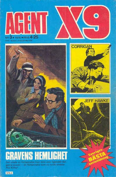 Cover for Agent X9 (Semic, 1971 series) #3/1976