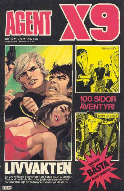 Cover for Agent X9 (Semic, 1971 series) #10/1976