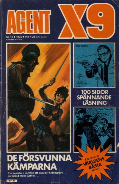 Cover for Agent X9 (Semic, 1971 series) #11/1976