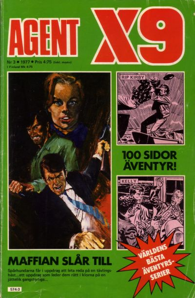 Cover for Agent X9 (Semic, 1971 series) #3/1977