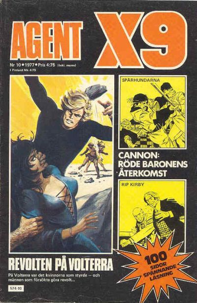 Cover for Agent X9 (Semic, 1971 series) #10/1977