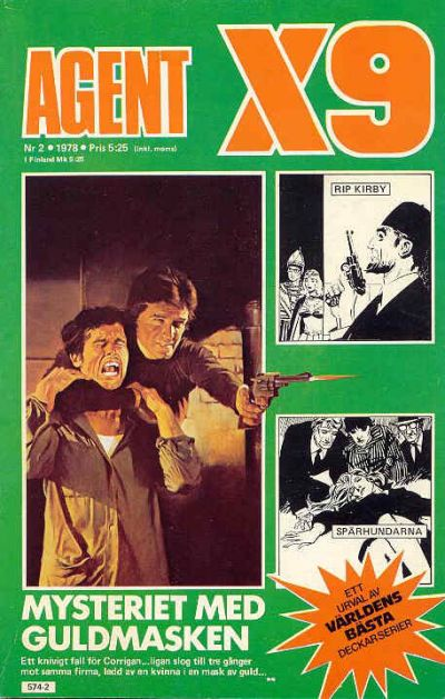 Cover for Agent X9 (Semic, 1971 series) #2/1978