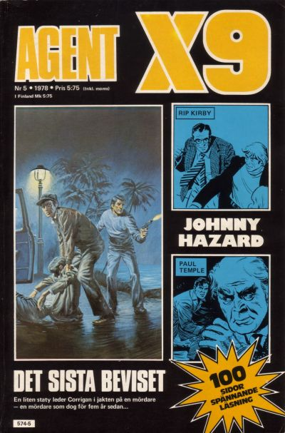 Cover for Agent X9 (Semic, 1971 series) #5/1978