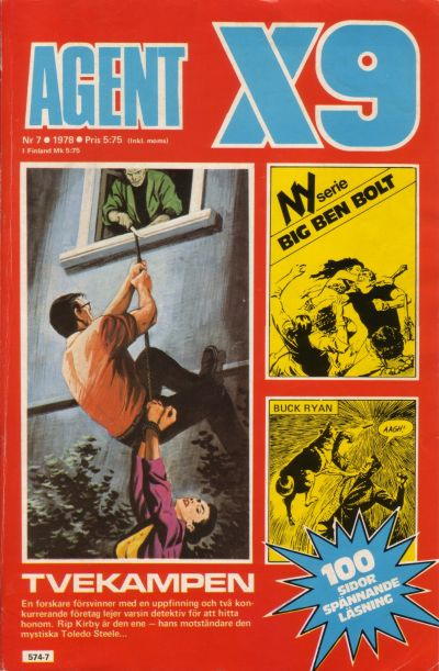 Cover for Agent X9 (Semic, 1971 series) #7/1978
