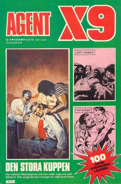 Cover for Agent X9 (Semic, 1971 series) #9/1978