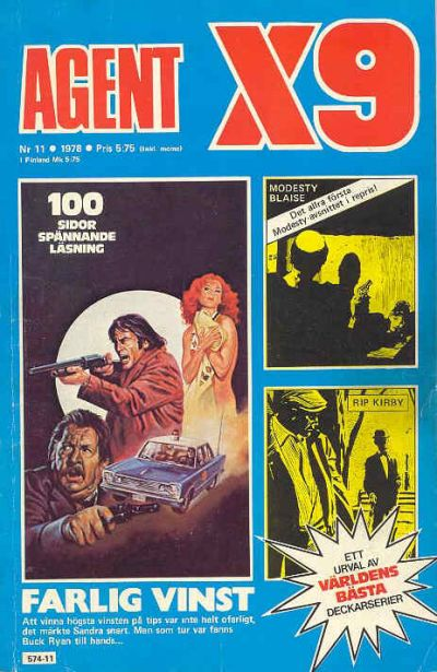 Cover for Agent X9 (Semic, 1971 series) #11/1978