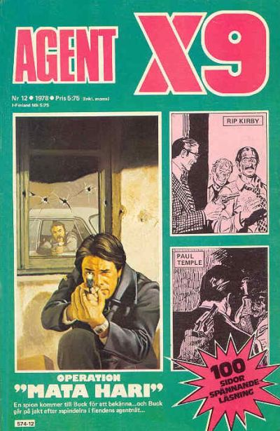 Cover for Agent X9 (Semic, 1971 series) #12/1978