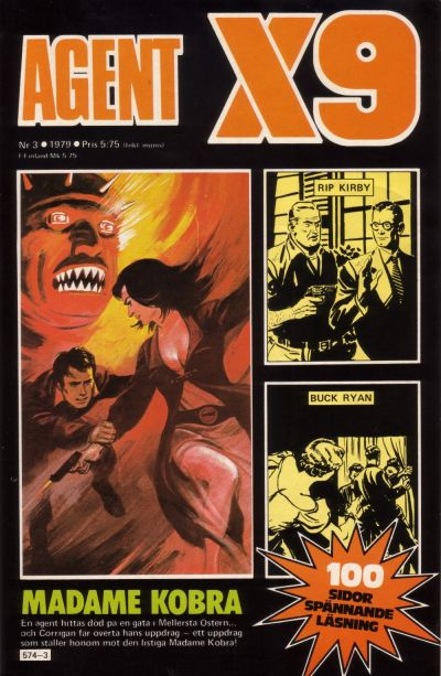 Cover for Agent X9 (Semic, 1971 series) #3/1979