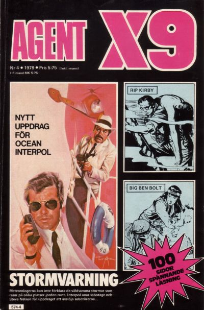 Cover for Agent X9 (Semic, 1971 series) #4/1979
