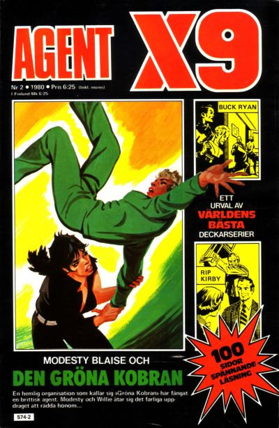 Cover for Agent X9 (Semic, 1971 series) #2/1980