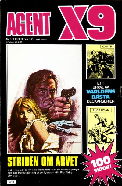 Cover for Agent X9 (Semic, 1971 series) #5/1980