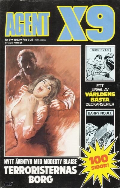 Cover for Agent X9 (Semic, 1971 series) #9/1983