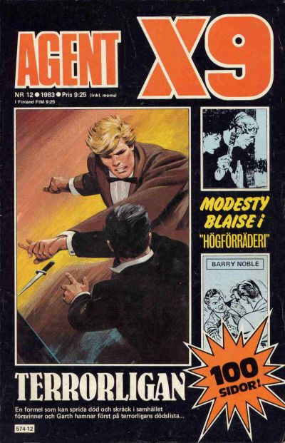 Cover for Agent X9 (Semic, 1971 series) #12/1983
