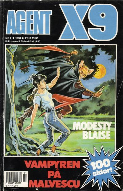 Cover for Agent X9 (Semic, 1971 series) #4/1988