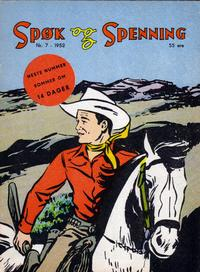 Cover Thumbnail for Spøk og Spenning (Oddvar Larsen; Odvar Lamer, 1950 series) #7/1952