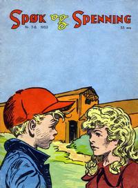 Cover Thumbnail for Spøk og Spenning (Oddvar Larsen; Odvar Lamer, 1950 series) #7-8/1953