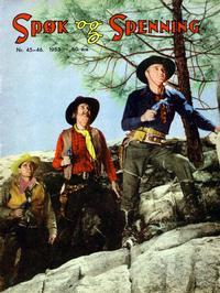 Cover Thumbnail for Spøk og Spenning (Oddvar Larsen; Odvar Lamer, 1950 series) #45-46/1953