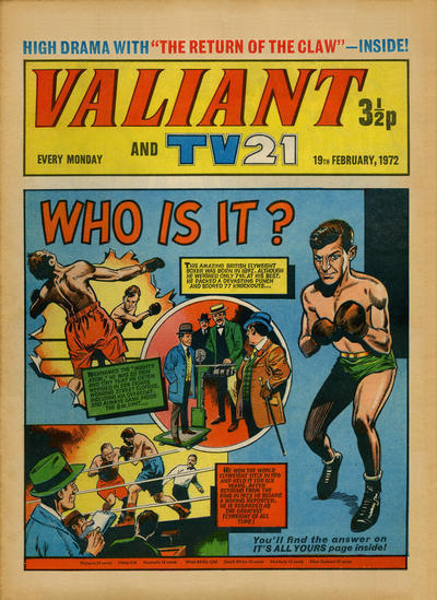 Cover for Valiant and TV21 (IPC, 1971 series) #19th February 1972