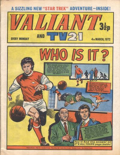 Cover for Valiant and TV21 (IPC, 1971 series) #4th March 1972