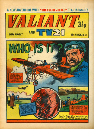 Cover for Valiant and TV21 (IPC, 1971 series) #25th March 1972