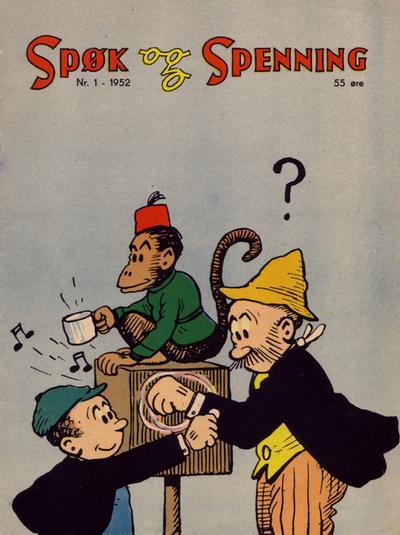 Cover for Spøk og Spenning (Oddvar Larsen; Odvar Lamer, 1950 series) #1/1952