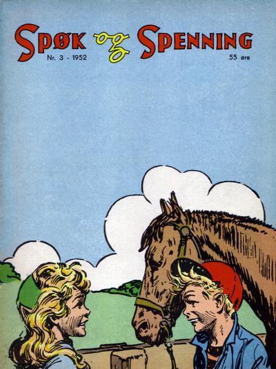 Cover for Spøk og Spenning (Oddvar Larsen; Odvar Lamer, 1950 series) #3/1952
