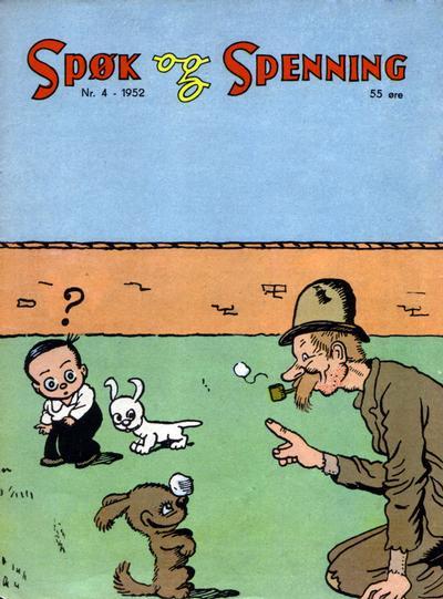 Cover for Spøk og Spenning (Oddvar Larsen; Odvar Lamer, 1950 series) #4/1952