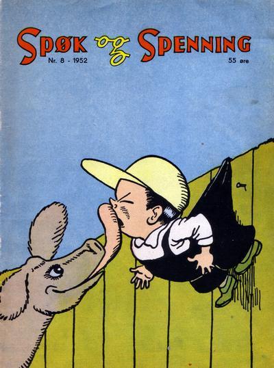 Cover for Spøk og Spenning (Oddvar Larsen; Odvar Lamer, 1950 series) #8/1952