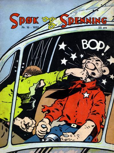 Cover for Spøk og Spenning (Oddvar Larsen; Odvar Lamer, 1950 series) #16/1952
