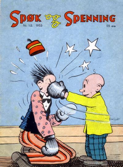 Cover for Spøk og Spenning (Oddvar Larsen; Odvar Lamer, 1950 series) #1-2/1953