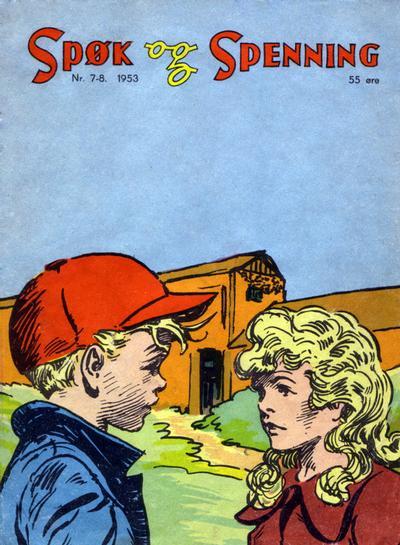 Cover for Spøk og Spenning (Oddvar Larsen; Odvar Lamer, 1950 series) #7-8/1953