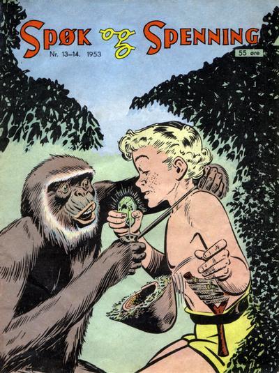 Cover for Spøk og Spenning (Oddvar Larsen; Odvar Lamer, 1950 series) #13-14/1953