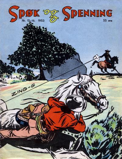 Cover for Spøk og Spenning (Oddvar Larsen; Odvar Lamer, 1950 series) #15-16/1953