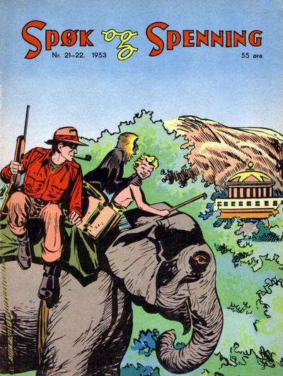 Cover for Spøk og Spenning (Oddvar Larsen; Odvar Lamer, 1950 series) #21-22/1953