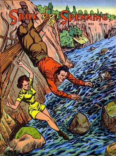 Cover for Spøk og Spenning (Oddvar Larsen; Odvar Lamer, 1950 series) #35-36/1953
