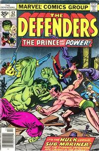 Cover Thumbnail for The Defenders (Marvel, 1972 series) #52 [35¢]