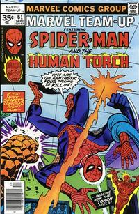 Cover for Marvel Team-Up (Marvel, 1972 series) #61 [30 cent cover price]