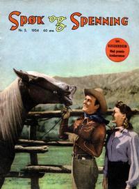 Cover Thumbnail for Spøk og Spenning (Oddvar Larsen; Odvar Lamer, 1950 series) #5/1954