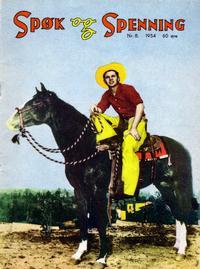 Cover Thumbnail for Spøk og Spenning (Oddvar Larsen; Odvar Lamer, 1950 series) #8/1954