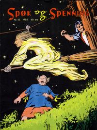Cover Thumbnail for Spøk og Spenning (Oddvar Larsen; Odvar Lamer, 1950 series) #15/1954