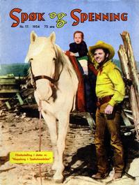 Cover Thumbnail for Spøk og Spenning (Oddvar Larsen; Odvar Lamer, 1950 series) #17/1954