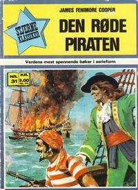Cover Thumbnail for Stjerneklassiker (Illustrerte Klassikere / Williams Forlag, 1969 series) #31 - Den røde piraten