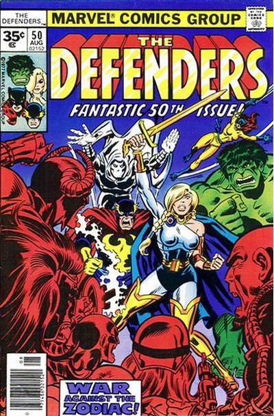 Cover for The Defenders (Marvel, 1972 series) #50 [Whitman]