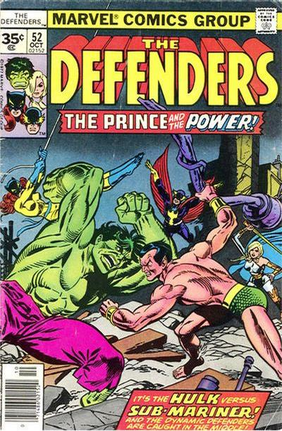 Cover for The Defenders (Marvel, 1972 series) #52 [35¢]