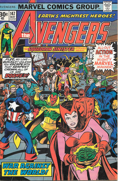 Cover for The Avengers (Marvel, 1963 series) #147 [25¢ Cover Price]