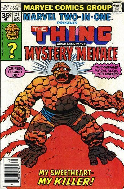 Cover for Marvel Two-In-One (Marvel, 1974 series) #31