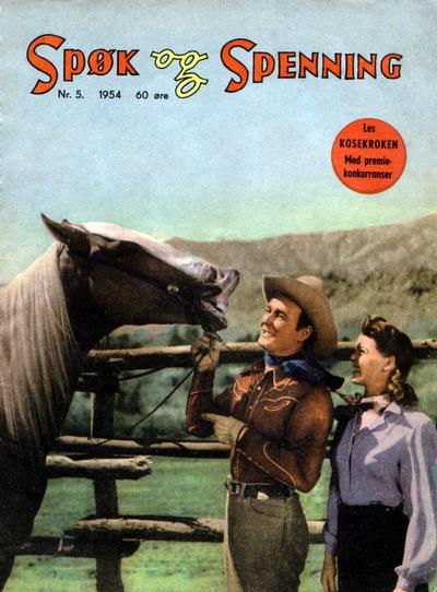 Cover for Spøk og Spenning (Oddvar Larsen; Odvar Lamer, 1950 series) #5/1954