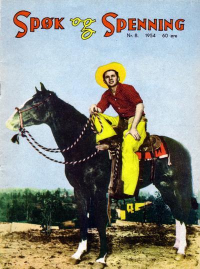 Cover for Spøk og Spenning (Oddvar Larsen; Odvar Lamer, 1950 series) #8/1954