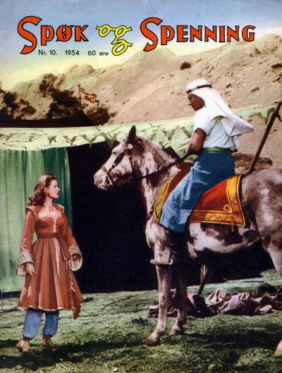 Cover for Spøk og Spenning (Oddvar Larsen; Odvar Lamer, 1950 series) #10/1954