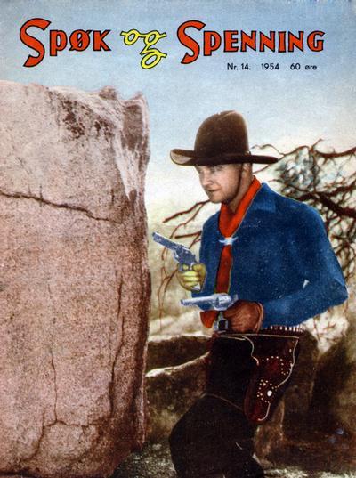 Cover for Spøk og Spenning (Oddvar Larsen; Odvar Lamer, 1950 series) #14/1954